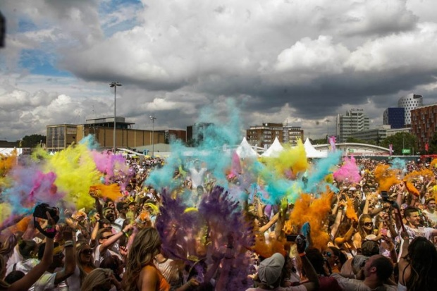 Getting Paint-bombed at the Holi One Festival